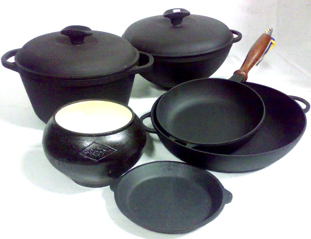 Чугунная посуда для печи