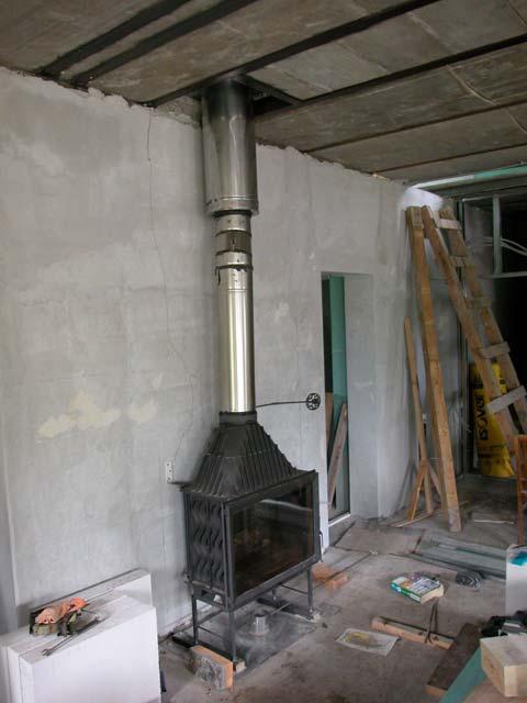 Как сделать дымоход камина